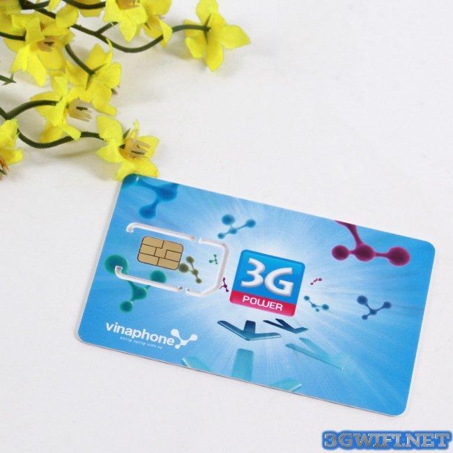 Sim 3G Vinaphone khuyến mãi trọn gói chỉ cần nạp 25k/tháng